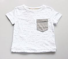 Hand Printed Baby Tee by Fable Baby and Nursery