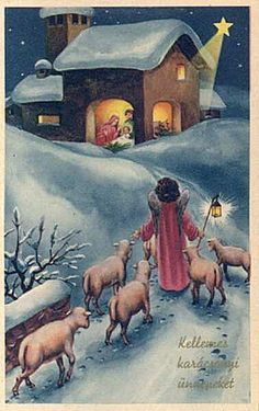 Free Clip Art from Vintage Holiday Crafts » Blog Archive » Free Vintage Christmas Cards: Baby Jesus and Nativity Scenes