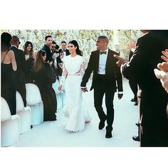 Kim and Kanye's wedding pictures!