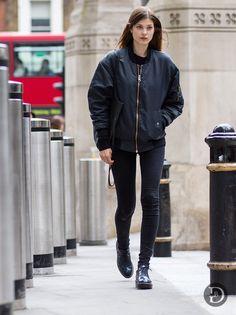 ace bomber. #LarissaHofmann #offduty in London.
