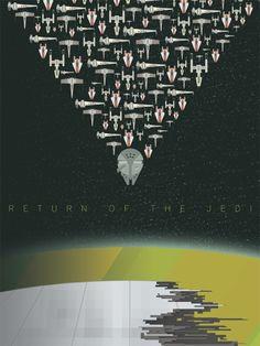 return-of-the-jedi star Wars movie poster geek art Andy Helms