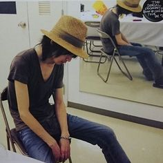 BUMP OF CHICKEN 藤原基央 Bump, Instagram Story, Panama Hat, Mens Tops, T Shirt, Chicken, Music, Fashion, Motorbikes