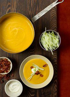 Must try this!        Butternut Squash & Apple Soup Recipe  | Epicurious.com
