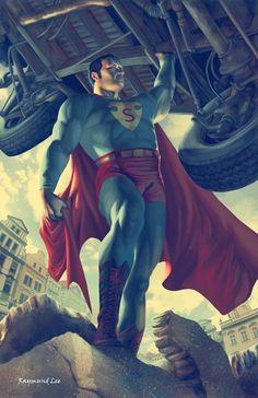 Superman by Raymund Lee.