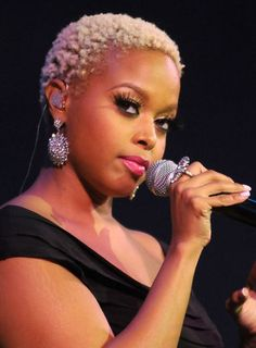 Chrisette Michele blond natural hairstyle loving this look wow Hot Hair Styles, Curly Hair Styles, Natural Hair Styles, Chrisette Michele, Twa Hairstyles, Twa Haircuts, Blonde Hairstyles, Celebrity Hairstyles, Pelo Natural