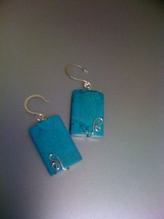 turquoise & sterling earrings