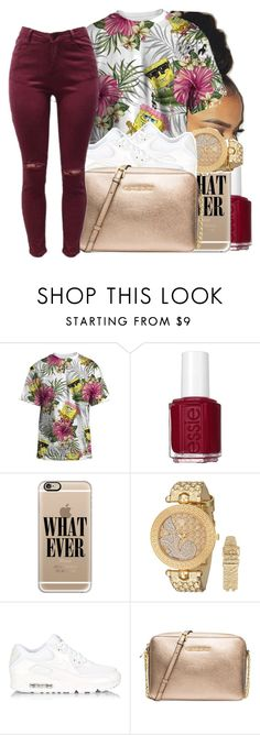 """Untitled #124"" by swavenation-n-trapsoul ❤ liked on Polyvore featuring Essie, Casetify, Versace, NIKE and MICHAEL Michael Kors"
