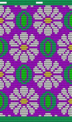 dit patroon is niet zelf ontworpen, maar is breder gemaakt zodat het op een bodem past voor Mochila te haken, het patroon heeft 50 steken, en 60 toeren, 4x op de bodem te haken Tapestry Crochet Patterns, Bead Loom Patterns, Beading Patterns, Cross Stitch Patterns, Knitting Charts, Knitting Patterns, Mochila Crochet, Card Patterns, Crochet Purses