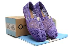 Women Toms Crochet Shoes