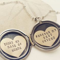 Personalized bridesmaid gift Will You Be My Maid of Honor by Sora Designs, Today my Maid of Honor, Forever My Best Friend, maid of honor gift
