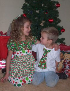 Christmas Brother Sister Matching Outfit  by lilbethkids
