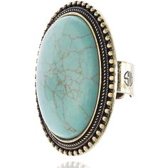 Samantha Wills Aaliyah Ring In Turquoise ($99) ❤ liked on Polyvore