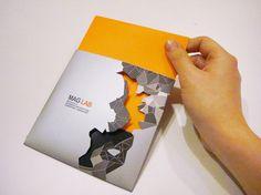 MAG LAB Interactive Portfolio CD  (Branding, Graphic Design, Print Design)  -By Dina saadi      -Die cut