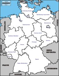Germany Printable Blank Map Bonn Berlin Europe Royalty Free - Germany map simple