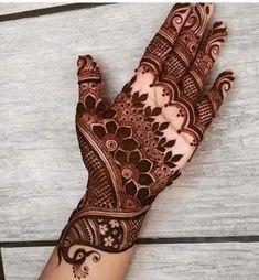 Wedding Henna Tattoo Designs for Brides on Hand 15012019 (13)