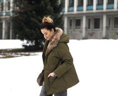 EllaSharlota: OUTFIT ZA PÁR KORUN Canada Goose Jackets, Valentino, Winter Jackets, Outfits, Fashion, Winter Coats, Moda, Suits, Winter Vest Outfits