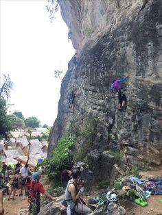 Rockclimbing. Thailand. Krabi. Sportclimbing. Köysikiioeily