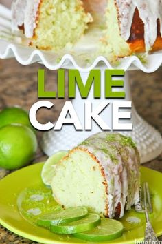 Lime Cake ~ Mary Wald's Place - If you love lime desserts, then baking this easy lime cake need to be put on your to do list! Köstliche Desserts, Delicious Desserts, Dessert Recipes, Plated Desserts, Key Lime Kuchen, Food Cakes, Cupcake Cakes, Bundt Cakes, Lime Bundt Cake Recipe