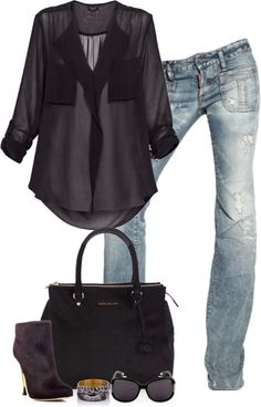 Great date night outfit for the fall! I would add some big bold gold accessories.