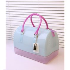 Bags, Luggage & Bags, 2013 Fulla furla candy bag candy colored jelly bag handbag handbag Boston bag pillow