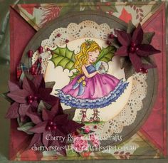Mo Manning - Christmas Fairy Holly Used to make a Christmas Countdown Calendar