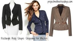 Rectangle body shape ladies get ready--it's your turn to shop and this week we are discussing the strategic fit of blazers that you must keep as your secret weapon! via @projmotherhood www.projectmotherhoodnyc.com #fashion #shopping #shopyourshape