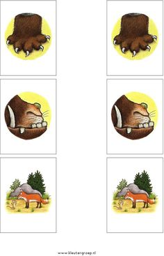 Begeleide of zelfstandige activiteit - Memorie Mehr Gruffalo Activities, Gruffalo Party, The Gruffalo, Kids Activity Books, Book Activities, Ready Readers, Room On The Broom, Felt Board Stories, Fine Motor