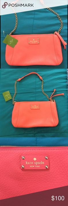 Price drop! 🎉Brand new coral Kate Spade bag! Brand new, unused coral Kate Spade shoulder bag! Perfect for the upcoming spring season! Price tag still attached. kate spade Bags Shoulder Bags