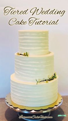 Cake Tutorial - How to make a tiered cake – quick video tutorial; link to full tutorial! Learn to dowel and stack -Tiered Cake Tutorial - How to make a tiered cake – quick video tutorial; link to full tutorial! Learn to dowel and stack - How To Make Wedding Cake, Diy Wedding Cake, Wedding Cake Flavors, Tiered Wedding Cakes, How To Cake, Homemade Wedding Cakes, Wedding Bride, Wedding Cake Two Tier, Fall Wedding