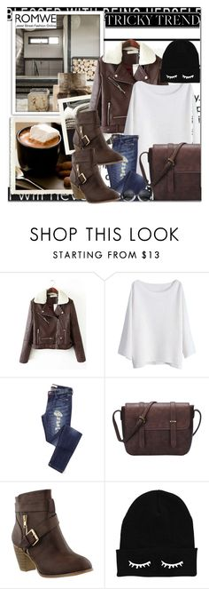 """""""Romwe 6"""" by emina-turic ❤ liked on Polyvore featuring women's clothing, women's fashion, women, female, woman, misses and juniors"""