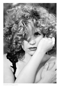 Fashion Portrait, Lindsey Regan Thorne, portrait, portraiture, black and white, fierce, strong, compassionate, creative, artist, fashion, jungle, bouncy curls, red lips, sultry, hair and makeup, love, beauty, strength, woman, embrace, laughter,  empowerment, KVP Woman, Charlotte NC Portrait Photographer, Kristin Vining Photography