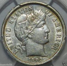 1903 O Barber Dime. Semi-Key Date. PCGS XF-Details. $65.00 Free Shipping