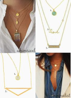 Dainty Gold Necklaces | south moon under