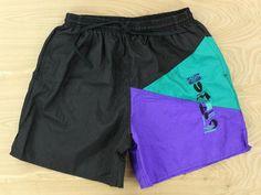 vtg 80s 90s UMBRO colorblock shorts LARGE usa made nylon soccer beach running #Umbro #Athletic