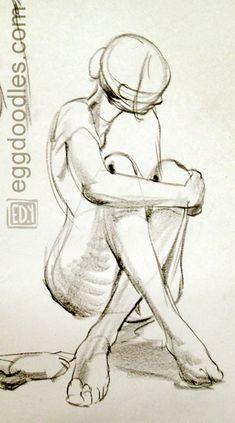 Egg Doodles: Jan21 figure drawing