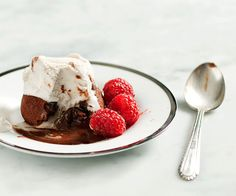 Rich molten chocolate lava cakes make a simple & elegant dessert for Valentine's Day or any special occasion. Take under 30 minutes. Elegant Desserts, Just Desserts, Awesome Desserts, Healthy Desserts, Molten Chocolate, Chocolate Cakes, Cake Recipes, Dessert Recipes, Top Recipes