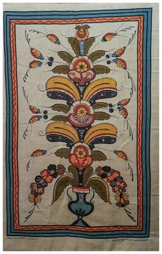 Vintage tapestry Swedish tapestry handprinted Jobs by MILDREDfinds