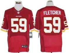 London Fletcher Jersey, #59 Nike NFL Washington Redskins Elite Jersey in Red  ID:6752$23