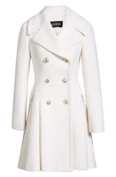 Details about GUESS Black & White Wool Blend Short Coat Double how should a coat fit a woman - Woman Coats Dress Coats For Women, Latest Fashion For Women, Womens Fashion, Fashion Trends, Classy Outfits, Casual Outfits, Winter Outfits, Dress Outfits, Fashion Dresses