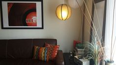 A #space in my #living #room . #pillows #lamp #art #decor