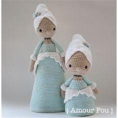 Marie Antoinette & Mini Marie Antoinette - Crochet Patterns by {Amour Fou}