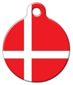 This tag features the flag of Denmark. Display your pet's national pride and patriotism with this great flag dog tag. Dog Id Tags, Pet Tags, Personalized Dog Tags, Cat Collars, Tag Art, Denmark, Pet Supplies, Your Pet, Dog Cat