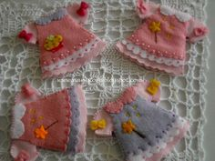 Dresses - would make darling appliqués for a little girl's quilt!