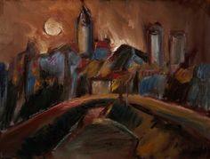 Carlos Bracher Paisagem de Arles - D'après Van Gogh - ost 1990 - 89 x 116 Situado França