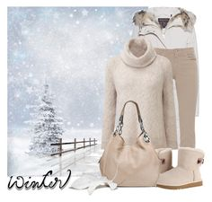 """""""Let it snow..."""" by elli-argyropoulou ❤ liked on Polyvore featuring Woolrich, Fabrizio Gianni, UGG, MICHAEL Michael Kors, Winter, parka, snow, ugg and cashmere"""