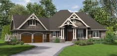 Mascord Plan B1248 -The Ripley: LOVE THE FLOOR plan but not how the outside of the house looks. would like the garage to open from the side and large front porch