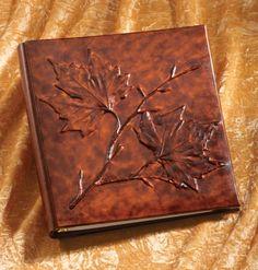 Foglia Leather Photo Album. <3 the covers leaf design!