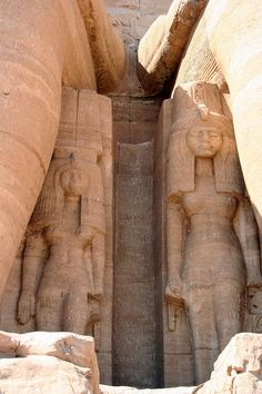 The Temple Of Ramesses II, Abu Simbel, Egypt - If I remember correctly, one of these two women is Nefertari. Have to check though.