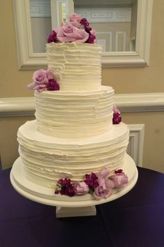 My wedding cake.  Although flowers will be in purple shades.