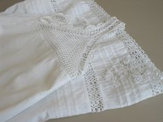 Victorian Girl's White Nightgown Pin Tucks by ShurleyShirley, $28.00